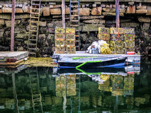 Rockport Maine Canal At Low Tide Royalty Free Stock Photography