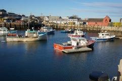 Rockport Motiff #1 τον Ιανουάριο αλιεία βαρκών Στοκ φωτογραφία με δικαίωμα ελεύθερης χρήσης