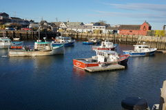 Rockport Motiff #1 in January. Fishing Boats Royalty Free Stock Photo