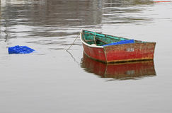 Rockport Row Boat. A small row boat sits in Rockport Harbor -- Rockport, Massachusetts, USA Royalty Free Stock Image