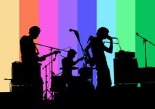 rockrulle för band n Arkivbild
