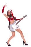 rockrulle santa Fotografering för Bildbyråer