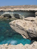 Rocks. Sae caves near to Agia Napa, Cyprus royalty free stock images