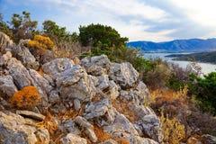 Rocks. On island Poros, Greece Stock Image