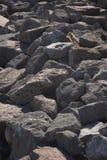 Rocks. Sea defences Royalty Free Stock Photo