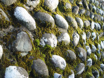 Rocks. Moss among layers of rocks or various shapes and sizes royalty free stock photo