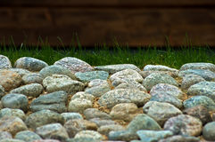 Rocks. Being used in a summer house garden Stock Photo