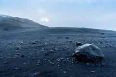Rocks. Glacier river bed in iceland Stock Image