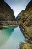 Rocks. On the beach of Santa Comba in the Galician coast , Atlantic Ocean, Spain Stock Photos