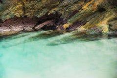 Rocks. On the beach of Santa Comba in the Galician coast , Atlantic Ocean, Spain Stock Photo