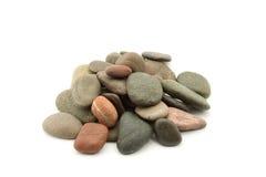 Rocks. Zen stones studio isolated over white Royalty Free Stock Photography