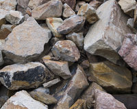 Rocks. Of all shapes, sizes, and colors in a pile Stock Images