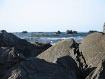 The Rocks. Clear rocks and faint sea in Pomos, Cyprus Stock Photos