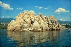 Rocks Adalary - landmark of the city Gurzuf in the Crimea Royalty Free Stock Photos