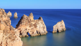 Rocks of the Algarve Stock Photography