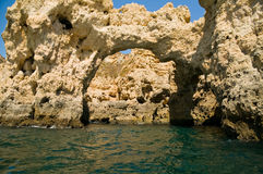 Rocks in Algarve, Portugal. Rock formations. Stock Photography