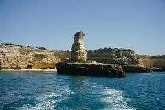 Rocks Algarve region in Portugal Stock Photos