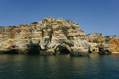Rocks Algarve region in Portugal Royalty Free Stock Images