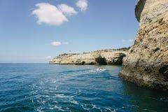 Rocks Algarve region in Portugal Stock Image