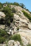 Rocks along Cliff Stock Image
