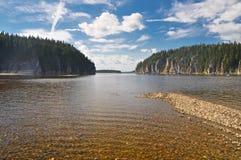 Rocks along the river banks. Stock Image