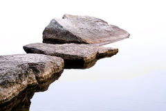 Rocks Along Shoreline. Creating a stepping stone path to Royalty Free Stock Photos