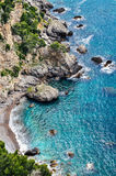 Rocks on the Amalfi coast Royalty Free Stock Images