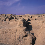 Rocks in ancient city. The rocks in the ancient city of Jiahegucheng China Royalty Free Stock Image