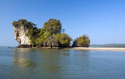 Rocks of Ao Nang beach Stock Photos