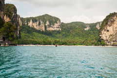 Rocks of Ao Nang, Krabi province, Thailand Royalty Free Stock Photos