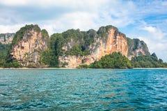 Rocks of Ao Nang, Krabi province, Thailand Royalty Free Stock Images