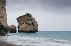 Rocks of Aphrodite beach, Paphos, Cyprus Royalty Free Stock Photos