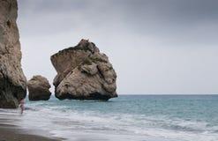Rocks of Aphrodite beach, Paphos, Cyprus Royalty Free Stock Photos