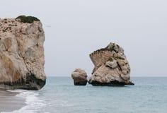 Rocks of Aphrodite beach royalty free stock photos