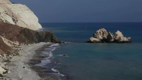 Rocks of Aphrodite Cyprus stock video