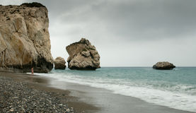 Rocks of Aphrodite, Paphos, Cyprus Stock Image
