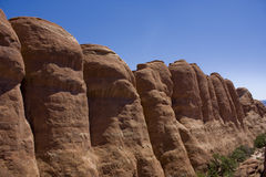 Rocks in Arches National Park royalty free stock photo