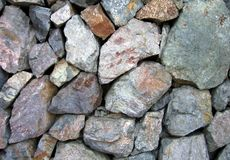 Rocks Assortment. A variety of rocks in different sizes and shapes stock photos