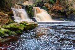 Rocks At Crammel Linn Waterfall Royalty Free Stock Photo
