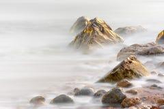 Free Rocks At Osmington Reflecting Sunset Colours Stock Image - 50431681