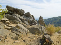 Rocks atop Shenandoah Stock Images