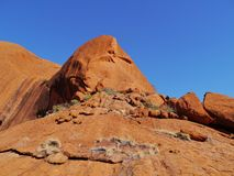 Rocks in the Australian red center Stock Photos