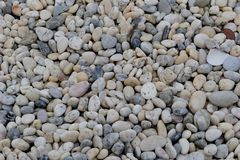Rocks background. Small rocks background texture on the floor Stock Images