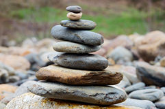 Rocks in balance. Outdoor photography Royalty Free Stock Images