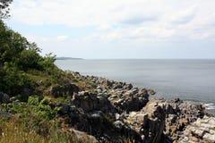 Rocks on the baltic sea. Denmark Stock Photo