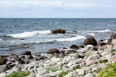 Rocks in the Baltic Sea Royalty Free Stock Photography