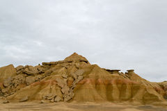 Rocks in Bardenas Stock Images