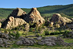 Rocks in Barnaul. This photo was made in Barnaul, Russian Federation stock images
