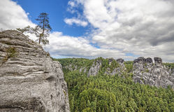 Rocks in Bastei, Saxon Switzerland. Royalty Free Stock Photography