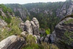 Rocks in Bastei Stock Images